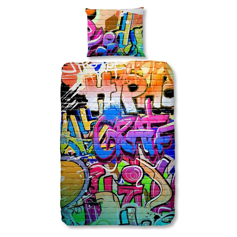 Detské bavlnené obliečky Müller Textiel Graffity, 140x200cm