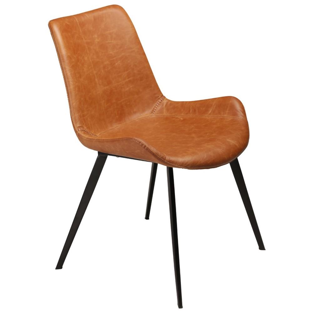 Hnedá jedálenská stolička DAN–FORM Hype Faux