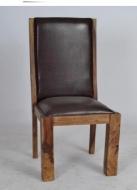 Furniture nábytok  Masívna kožená stolička z Palisanderu  Masrúr  45x47x110 cm