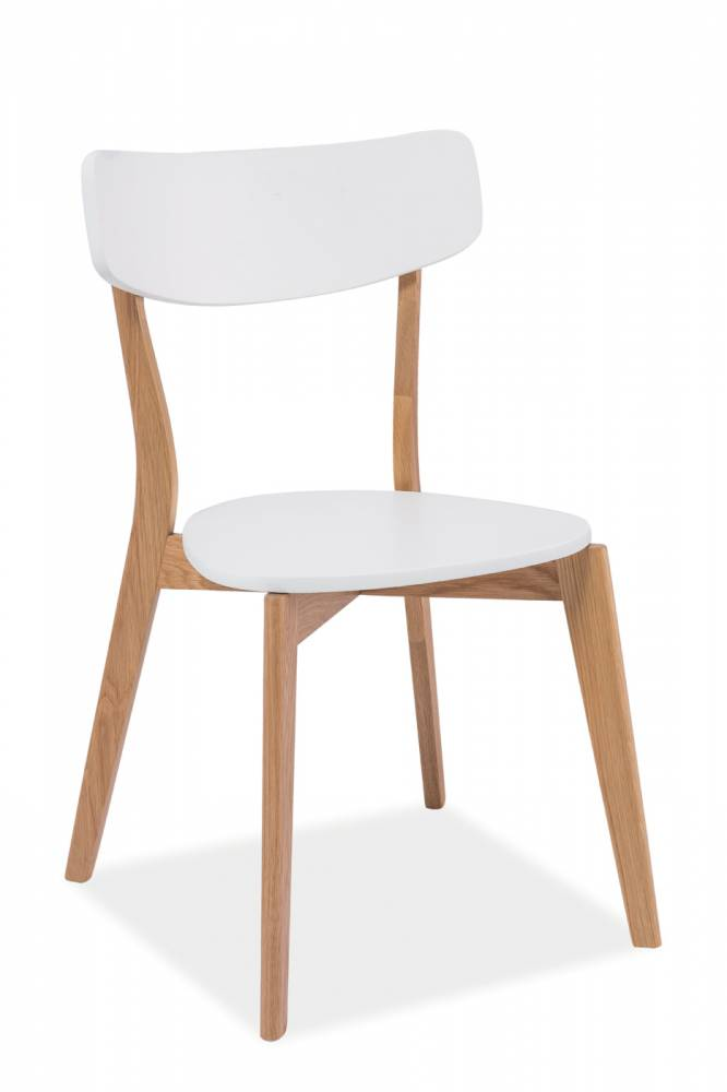 Jedálenská stolička Mosso (dub + biela)