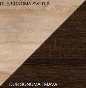 Šatníková skriňa STELLA 05   Farba: Dub sonoma svetlá / dub sonoma tmavá