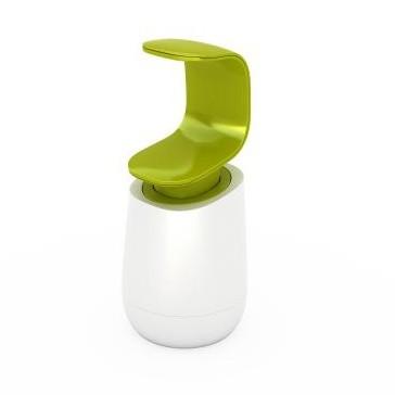 Bielo-zelený dávkovač mydla Joseph Joseph C-pump