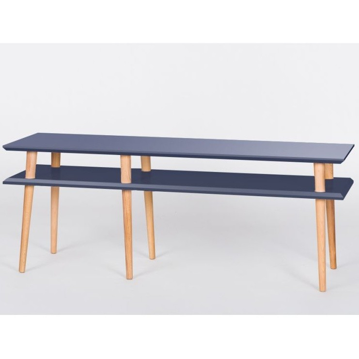 Grafitovosivý konferenčný stolík Ragaba Mugo,dĺžka159 cm