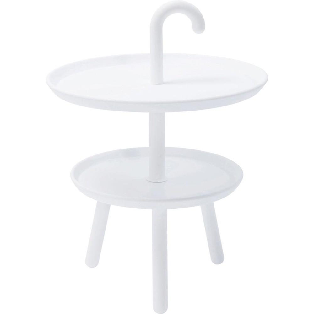 Biely odkladací stolík vhodný do exteriéru Kare Design Jacky