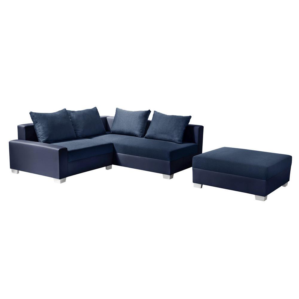 Modrá rohová pohovka s lôžkom na pravej strane Interieur De Famille Paris Aventure