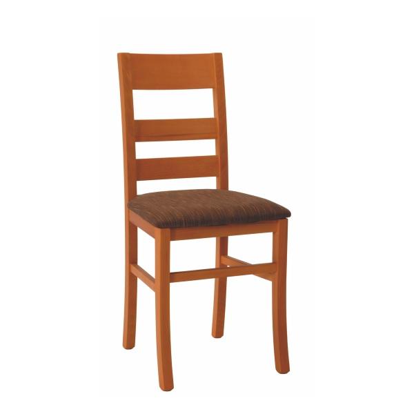 Drevená stolička LORI s čalúneným sedadlom