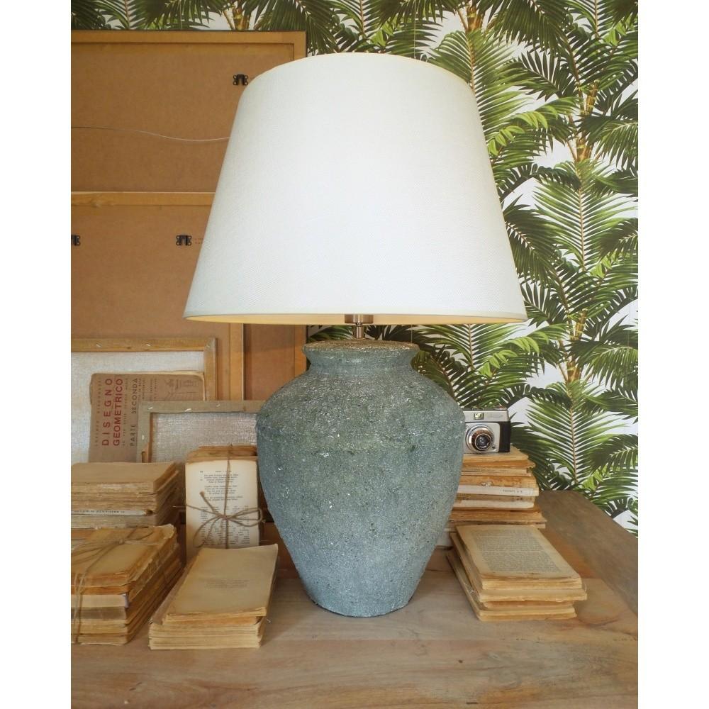 Keramická stolová lampa Orchidea Milano Saint Tropes Greenish Grey