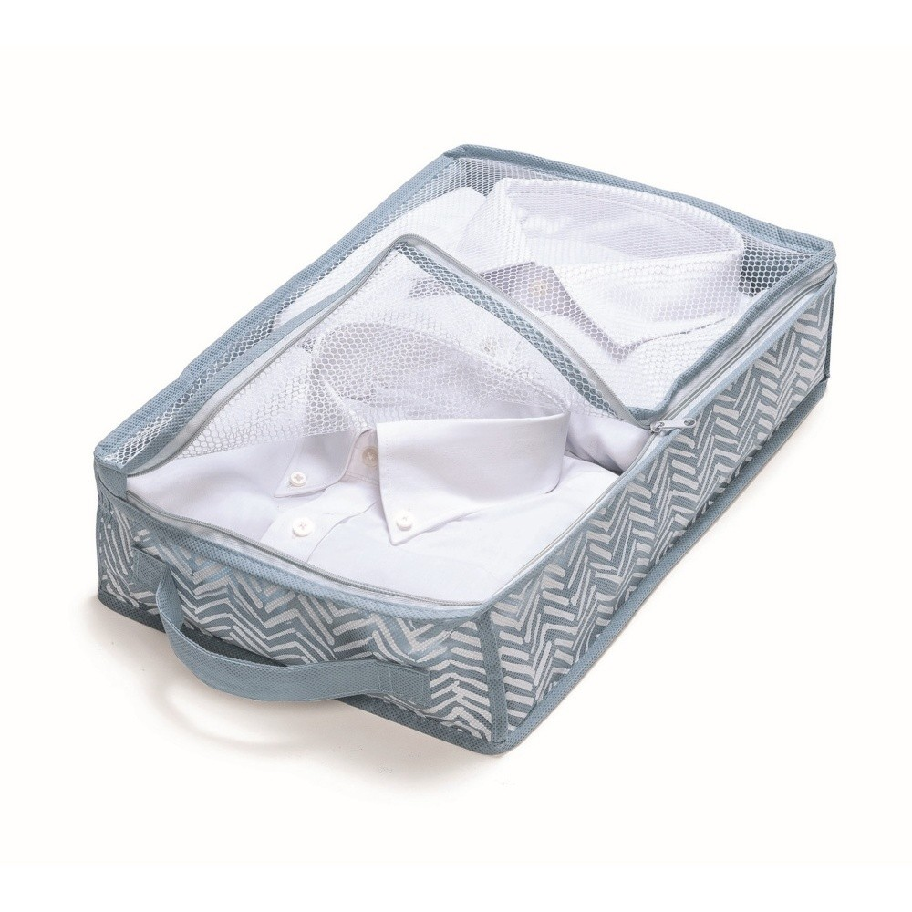 Modrý úložný box Cosatto Tweed, šírka 26 cm