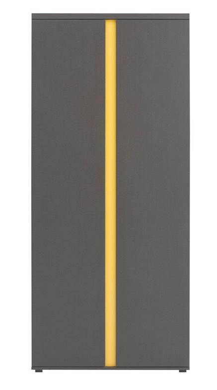 Šatníková skriňa Graphic SZF2D   Farba: sivý wolfram