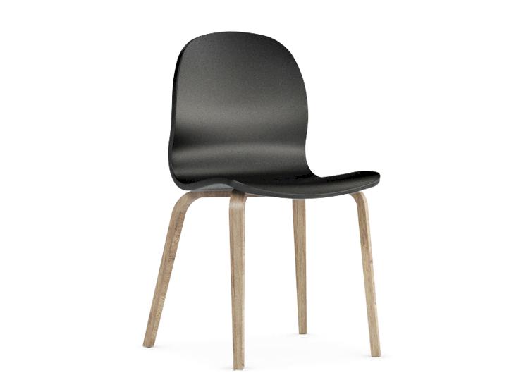 Jedálenská stolička Possi čierna   Farba: čierna/san remo sand svetlý