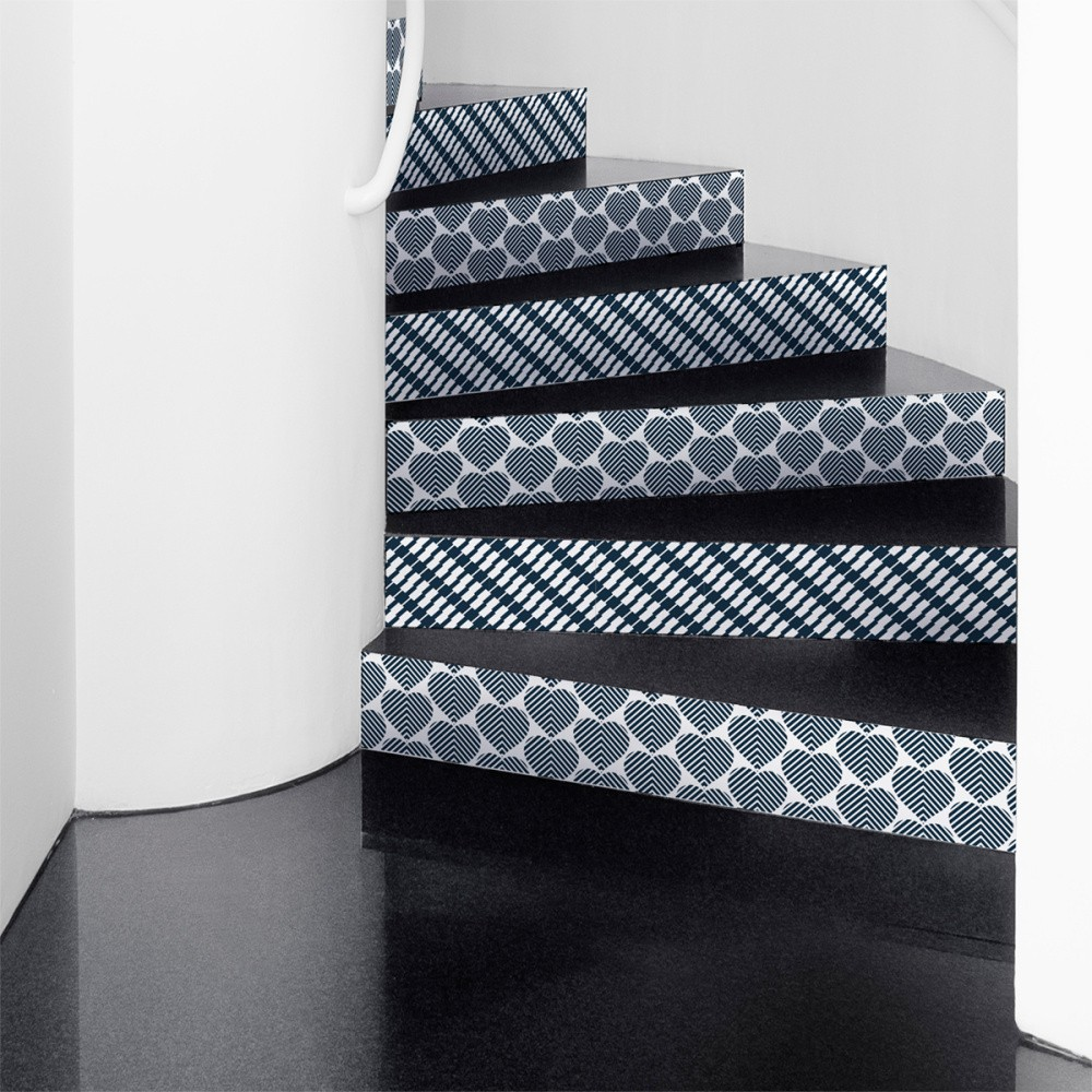 Sada 2 samolepiek na schody Ambiance Lova, 15×105 cm