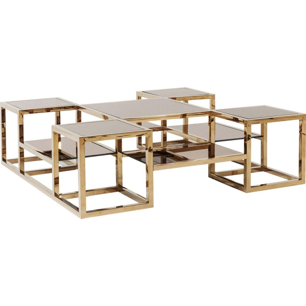 Konferenčný stolík so zrkadlovou doskou Kare Design Steps