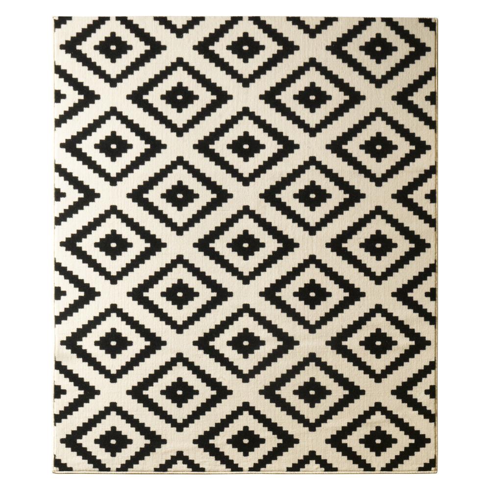Čierny koberec Hanse Home Hamleti Diamond Black, 80x300cm