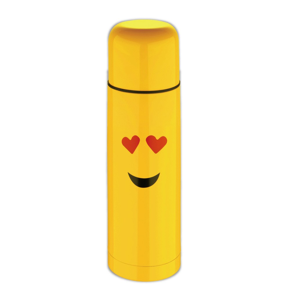 Termoska Bergner Emoticon Heart Eyes, 750 ml