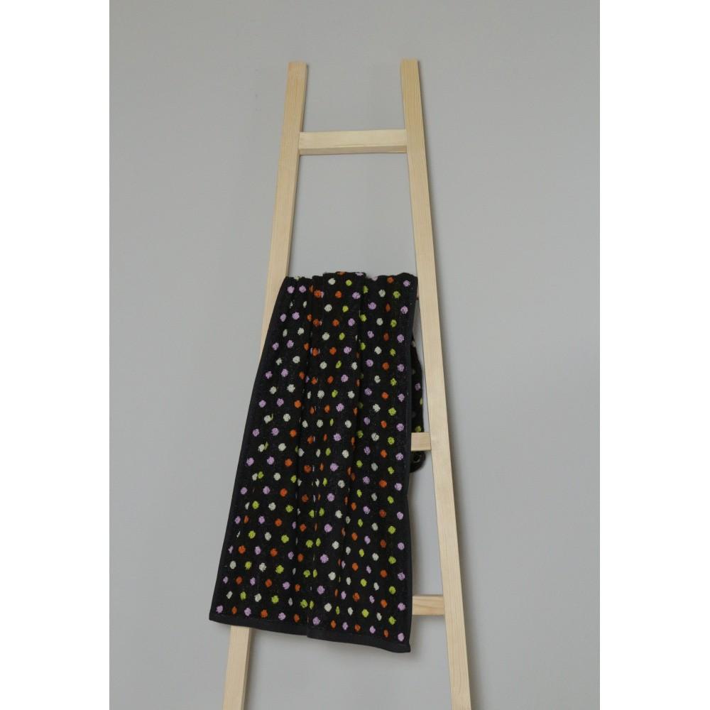 Čierny bavlnený uterák My Home Plus Spa, 50×100 cm