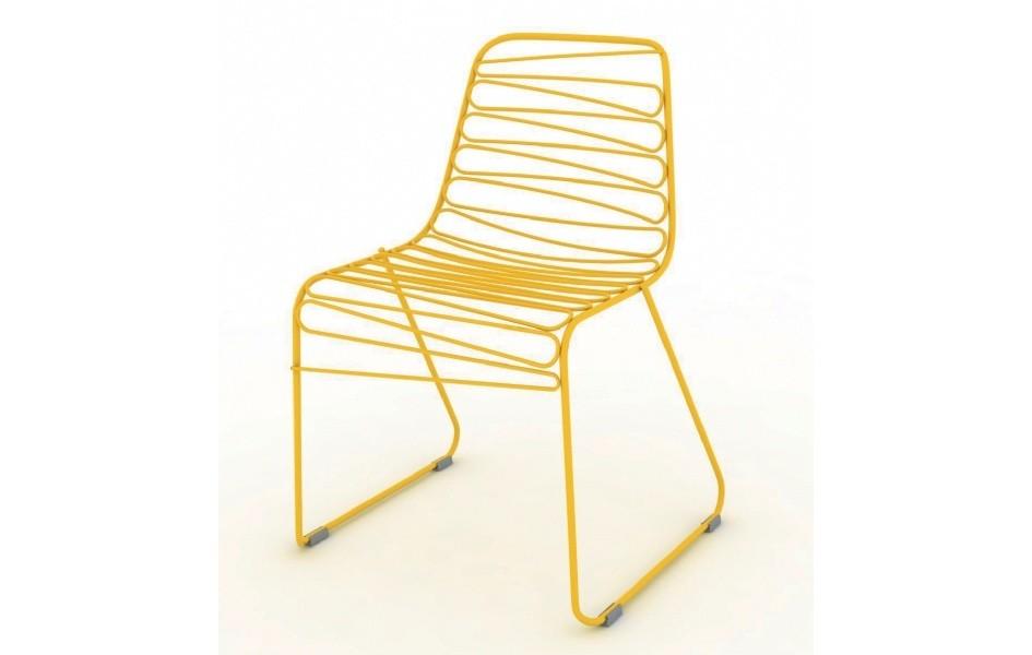 Žltá rozložiteľná stolička Magis Flux