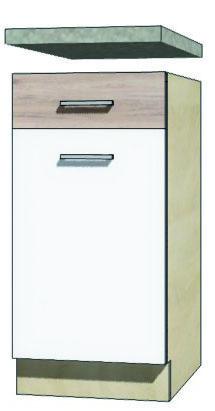 EKO - 2D dolná skrinka so zásuvkou a policou 40cm