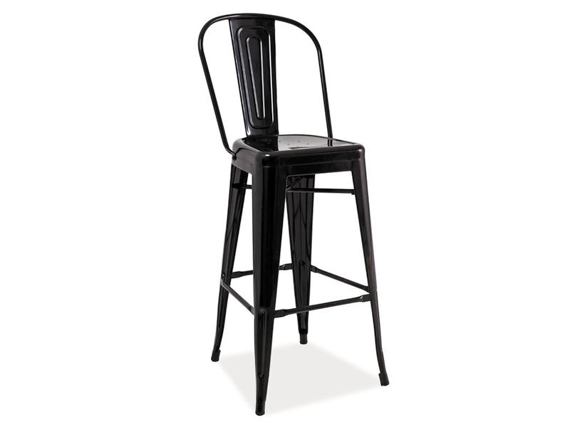 Barová stolička Loft H-1 (čierna)