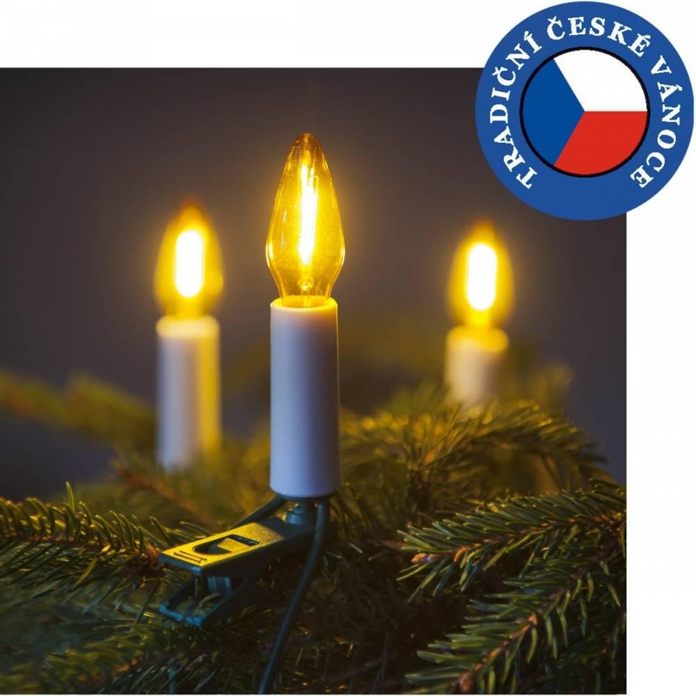 Súprava Felicia LED Filament žltá SV-16, 16 žiaroviek