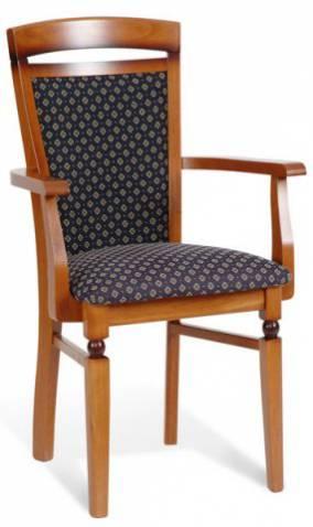Jedálenská stolička Bawaria DKRS P   Farba: Orech taliansky / modrá
