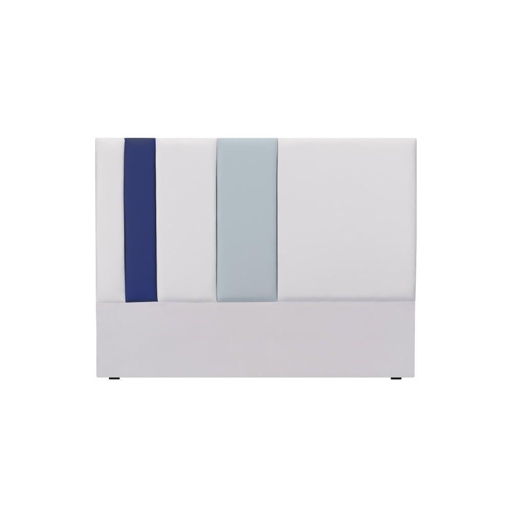 Sivo-modré čelo postele Mazzini Sofas Dahlia, 120 × 140 cm