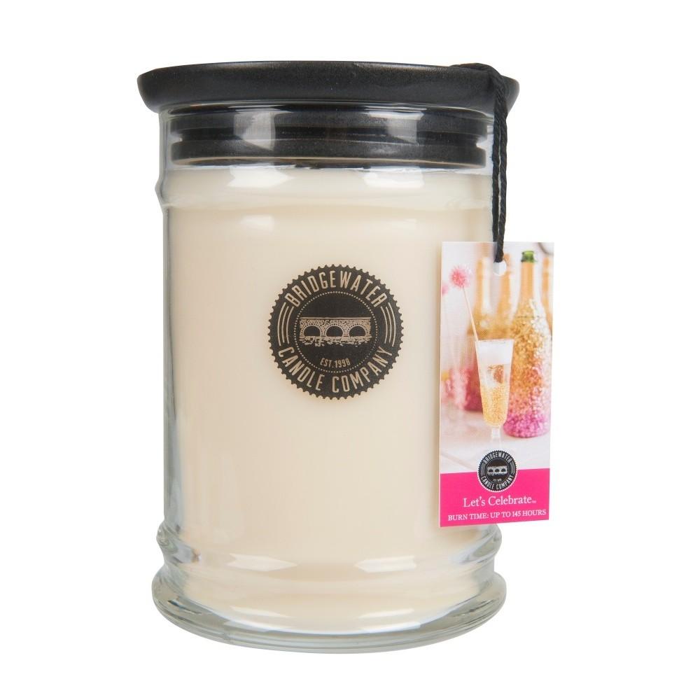 Vonná sviečka v sklenenej dóze Bridgewater Candle Company Let 'Celebrate, doba horenia 140-160 hodín