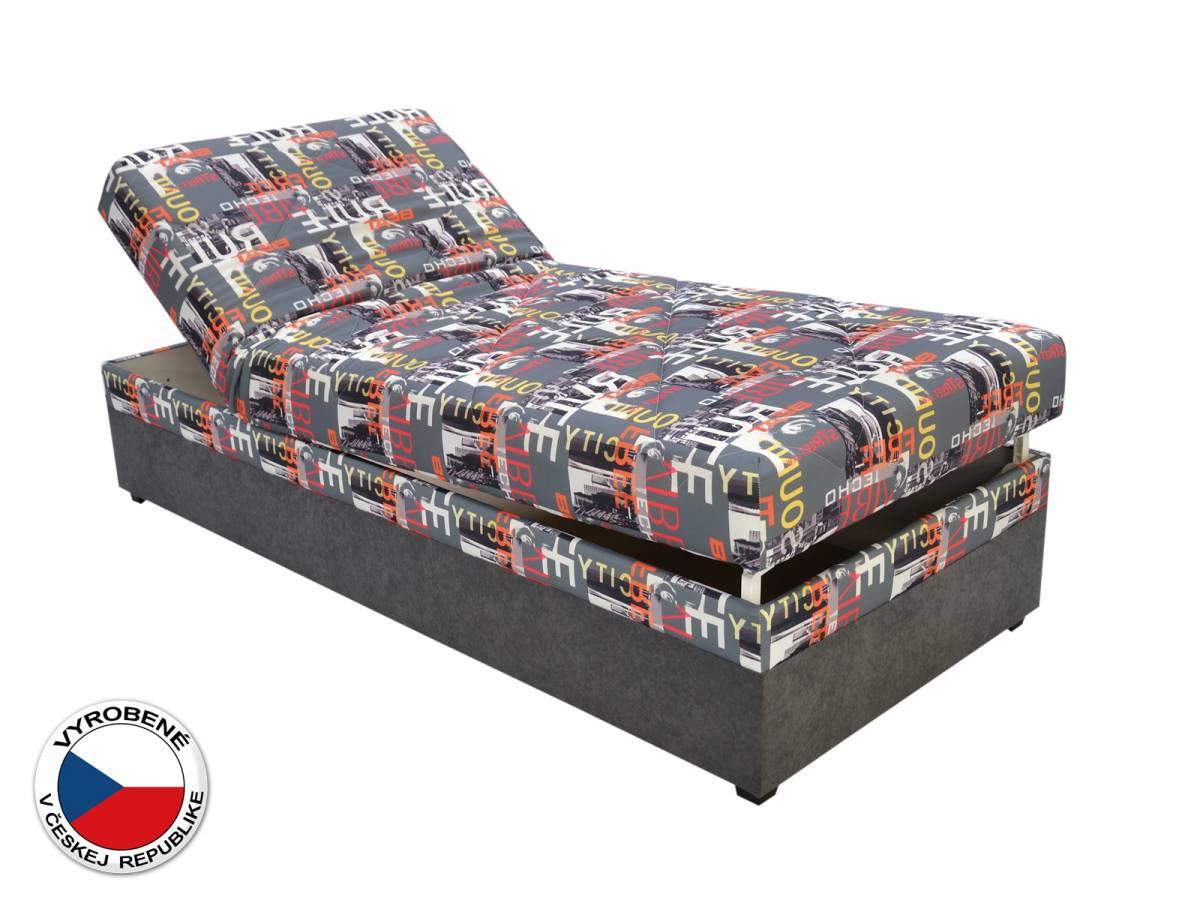 Jednolôžková posteľ (váľanda) 90 cm Blanár Evelina (vzor City Beat 04) (s roštom a matracom)