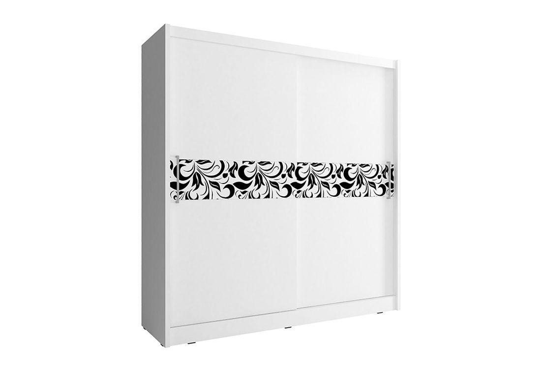 Šatníková skriňa WHITNEY 5 A, 180x200x62 cm, biely