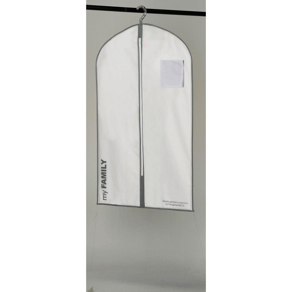 Biely závesný obal na oblečenie Compactor Suit Bag White