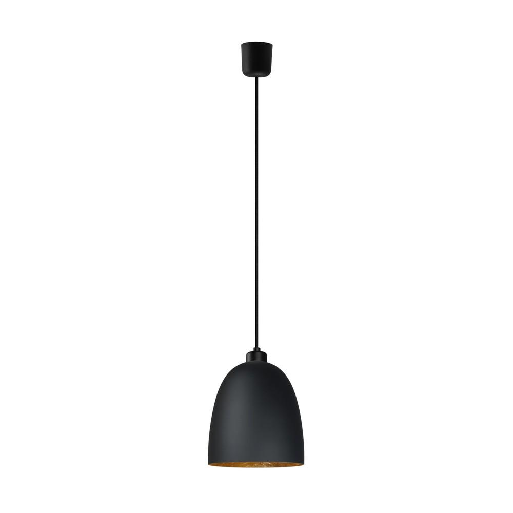 Čierno-zlaté závesné svietidlo Sotto Luce Awa