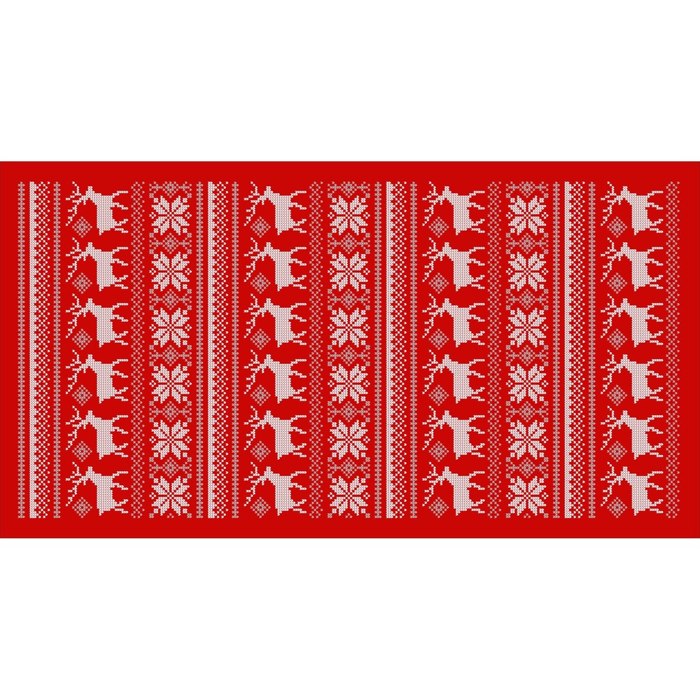 Kuchynský behúň Crido Consulting Scandi Reindeer, dĺžka 100 cm
