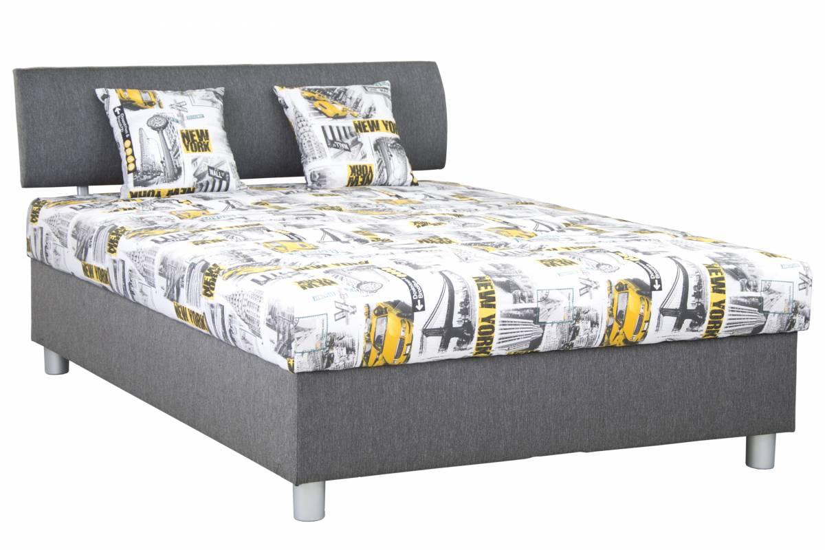 Manželská posteľ 140 cm Blanár Skate (sivá) (s roštom a matracom)