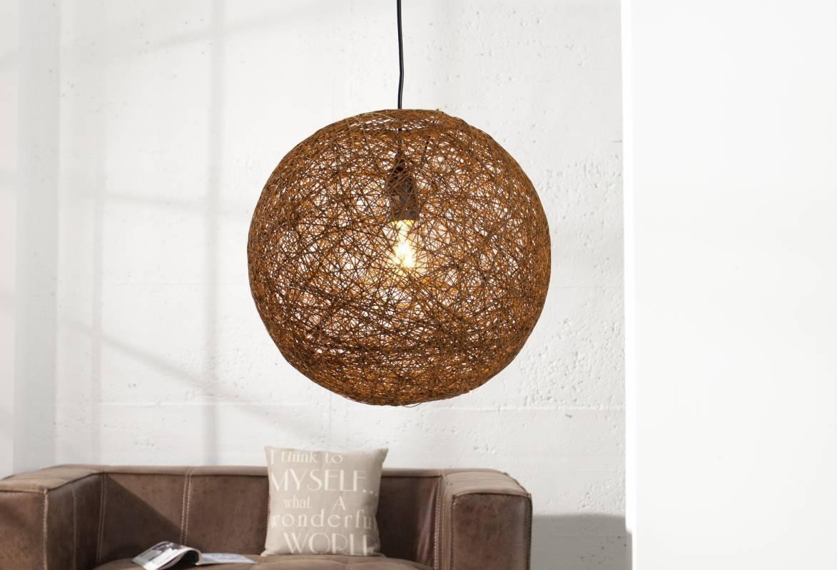Závesná lampa COCOON 60 cm - hnedá