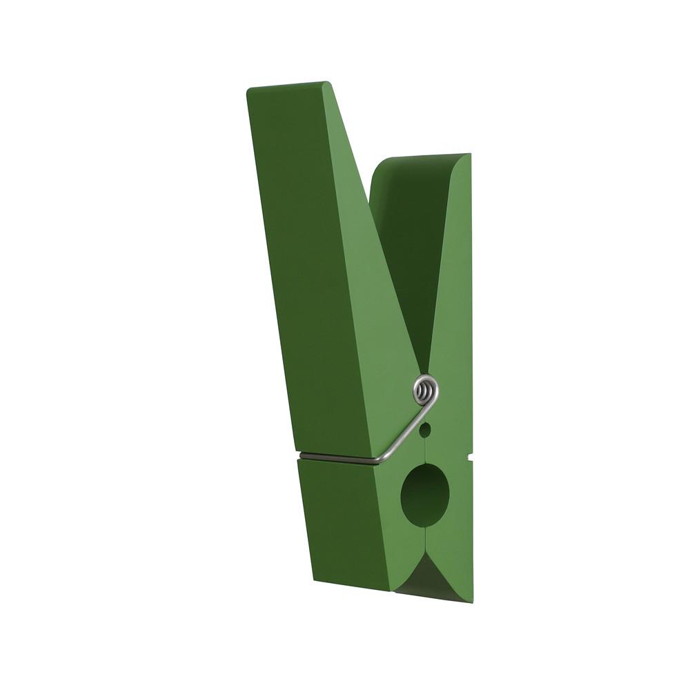 Zelený vešiak v tvare štipca SwabDesign