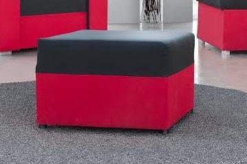 Taburetka LANDRAS čierna/červená