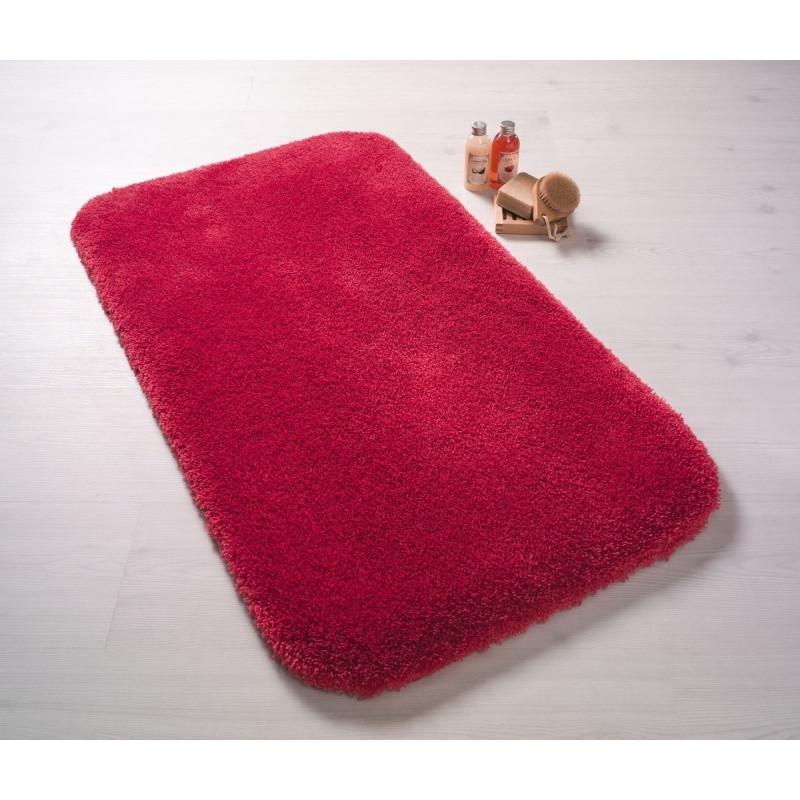 Červená predložka do kúpeľne Confetti Bathmats Miami, 50x57cm