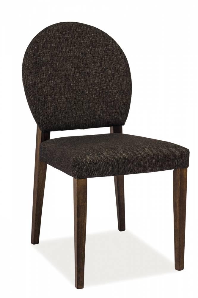 Jedálenská stolička Aldo (tmavý orech + tmavosivá)