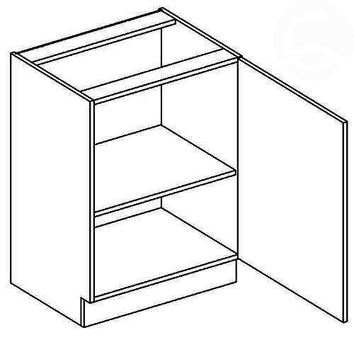 D60 P/L dolná skrinka 1-dverová AURA mocca/šedá