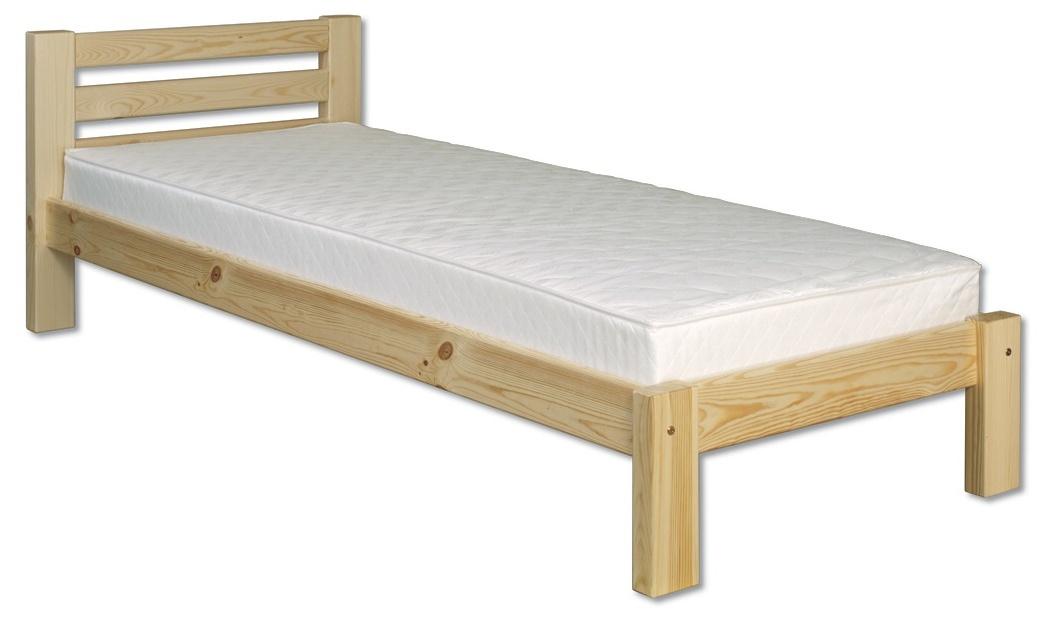 Jednolôžková posteľ 90 cm LK 127 (masív)