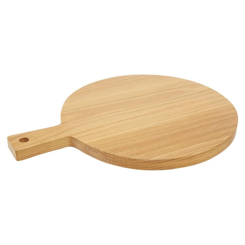 Prkénko z dubového dreva Premier Housewares Round, 30×39 cm