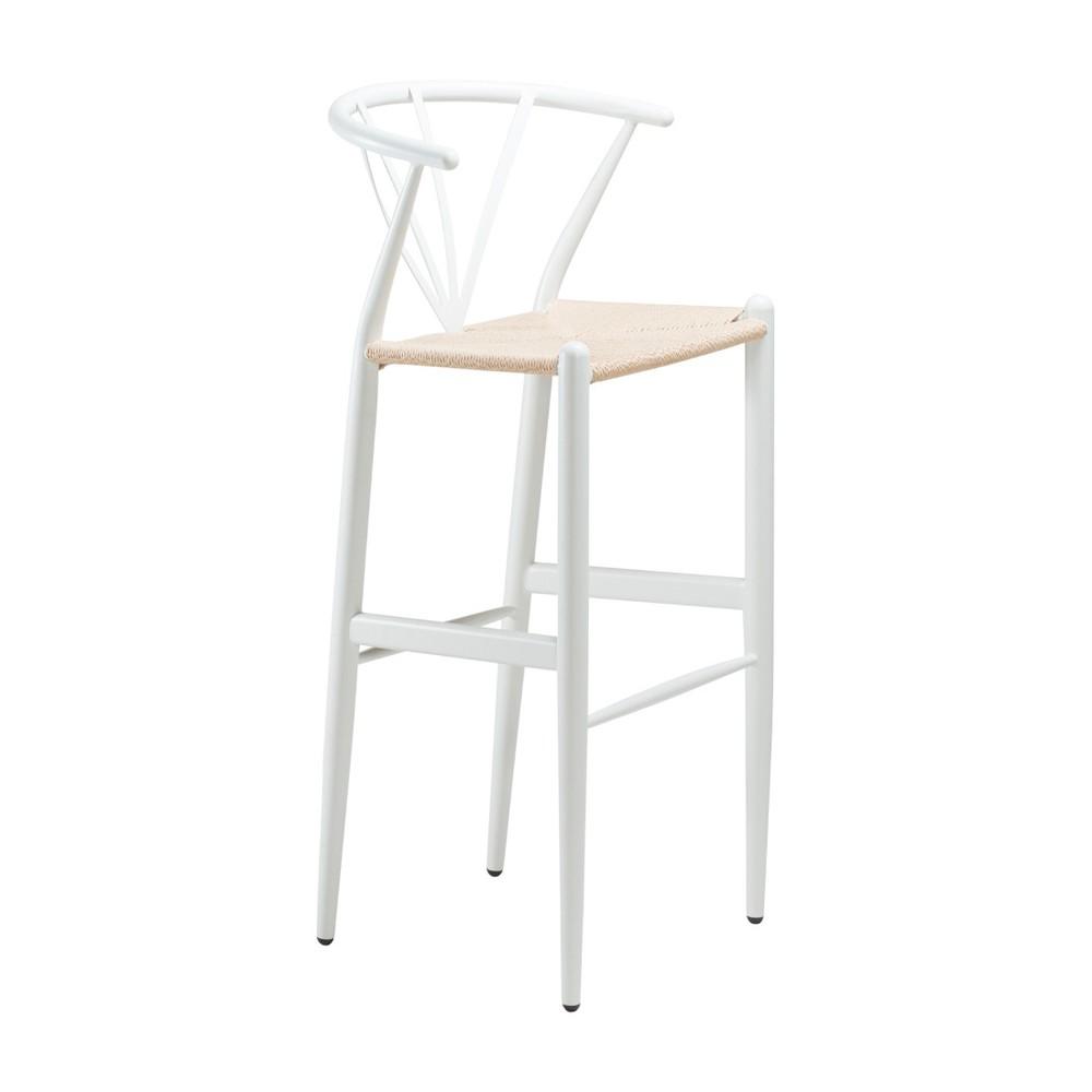 Biela barová stolička DAN-FORM Denmark Delta