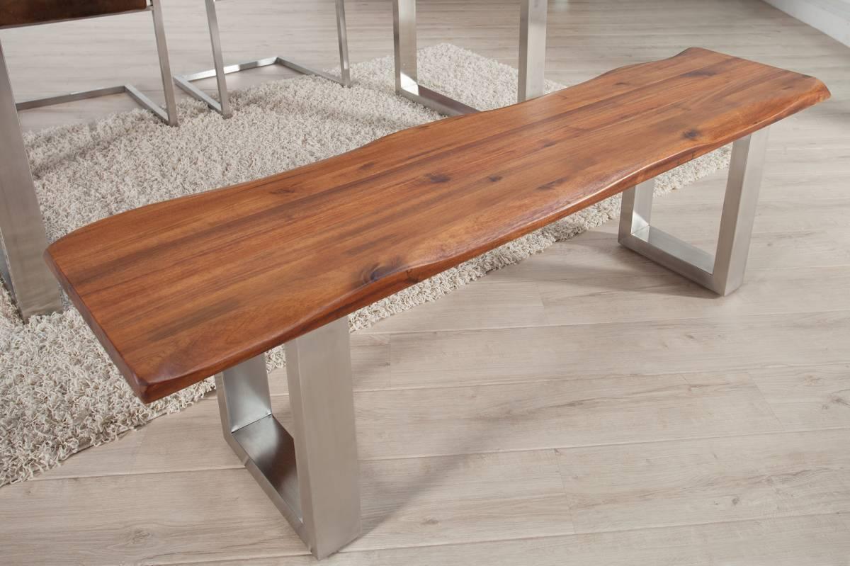 Jedálenská lavica GENESUS 160 cm - hnedá