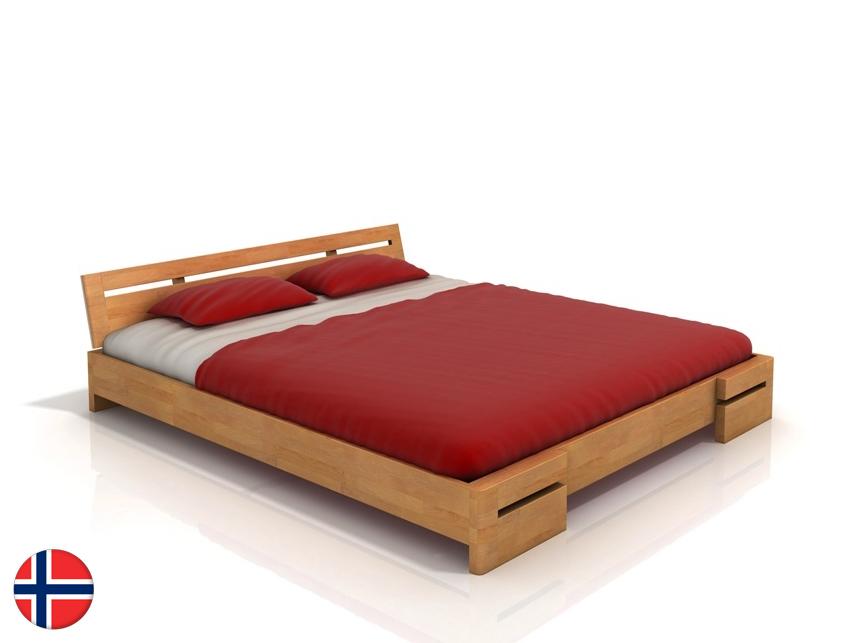 Manželská posteľ 160 cm Naturlig Bokeskogen (buk) (s roštom)
