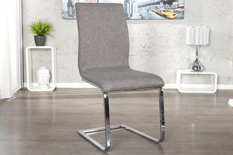 Jedálenská stolička HAMTON - sivá