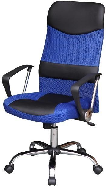 Kancelárske kreslo, čierno/modré, TC3-973M