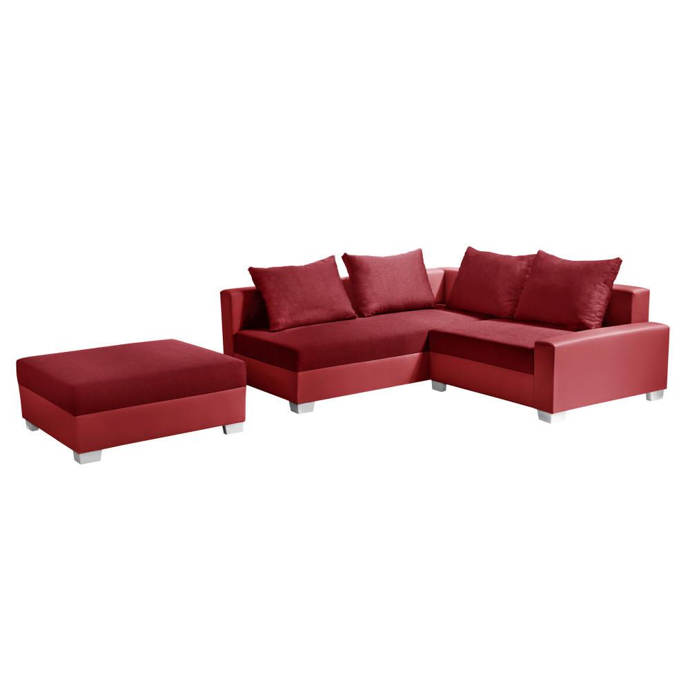 Červená rohová pohovka s lôžkom na ľavej strane Interieur De Famille Paris Aventure
