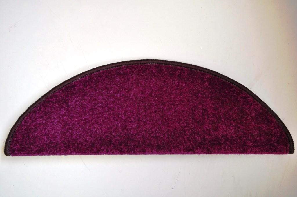 Kobercové nášľapy na schody Eton 24 x 65 cm - Fialová