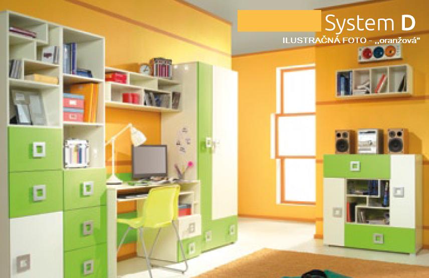 Detská izba Labirynt D   oranžová