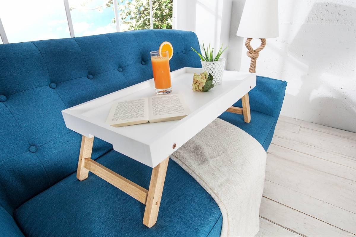 Bighome - Servírovací stolík SCENDINAVIA - biela