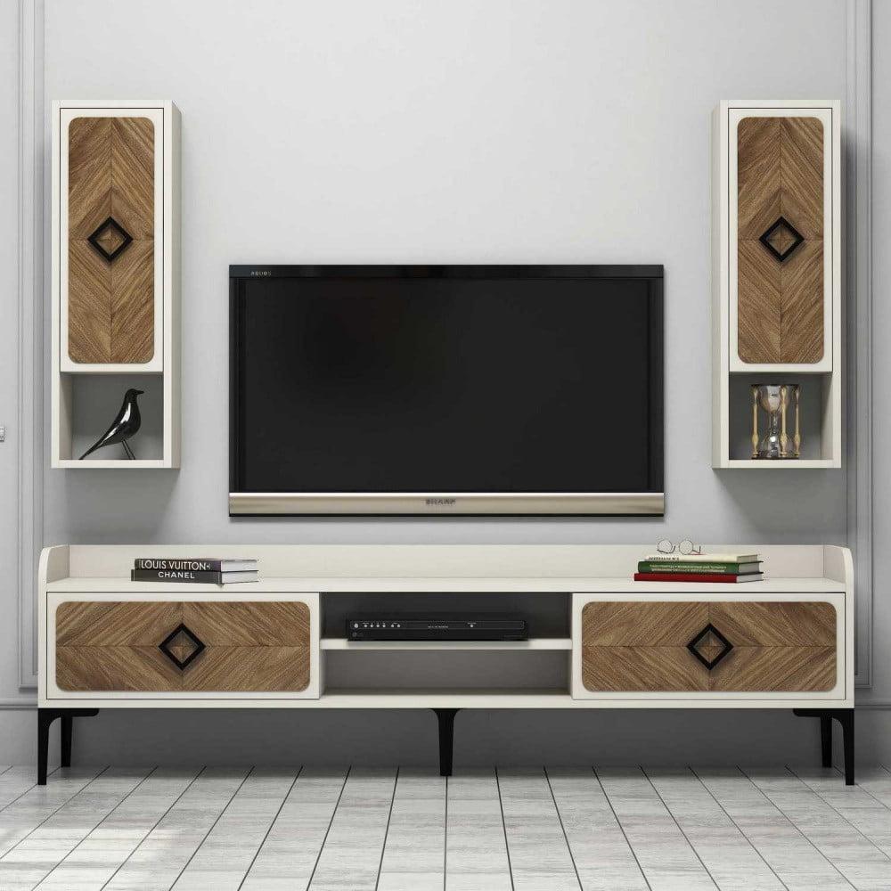 Krémový TV stolík Samba